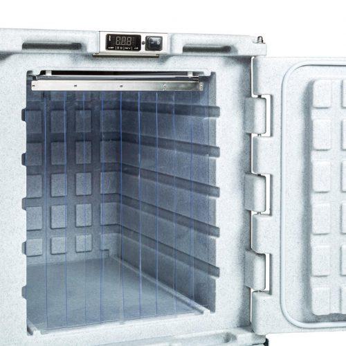 Contenitori refrigerati, tenda a strisce in plastica