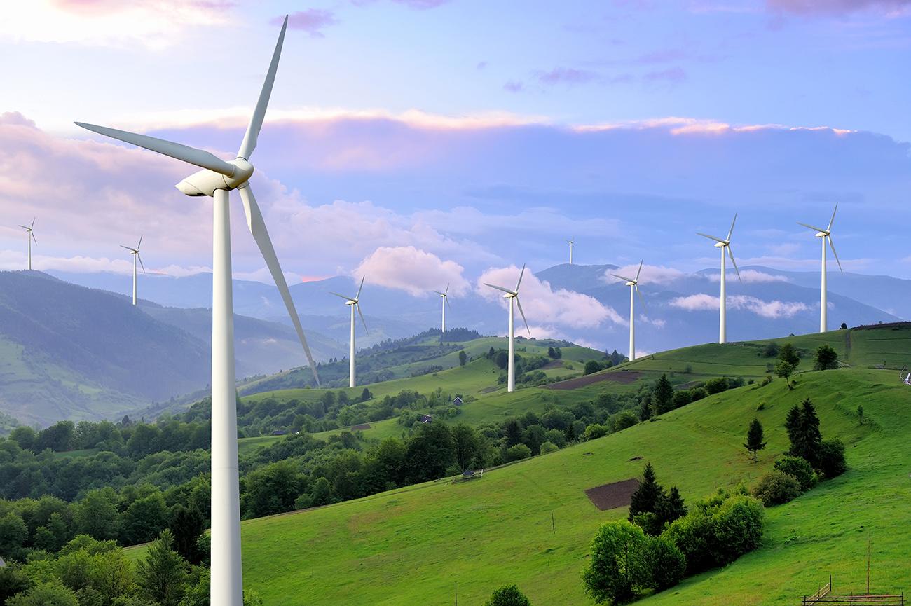 Eco,Power.,Wind,Turbines,Generating,Electricity